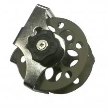 Катушка PELENGAS алюминиевая с нержавеющим кронштейном, 75 мм