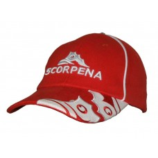 Кепка-бейсболка SCORPENA, красная