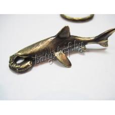 "Брелок-кулон ""Акула"" (латунь)"