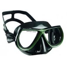 Маска Salvimar Noah, чёрный силикон, зелёная рамка
