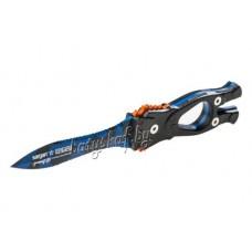 Нож SARGAN Сталкер-стропорез Z1 синий камуфляж
