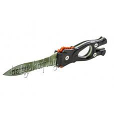 Нож SARGAN Сталкер-стропорез Z1зеленый камуфляж